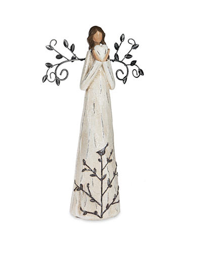 Ganz® 11-in. African American Deco Angel with Heart Figurine