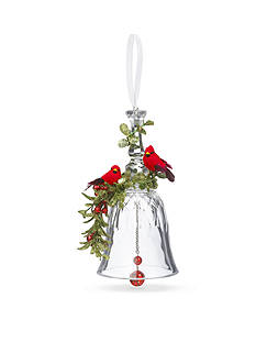 Ganz 7-in. Double Cardinal Mistletoe Bell Ornament