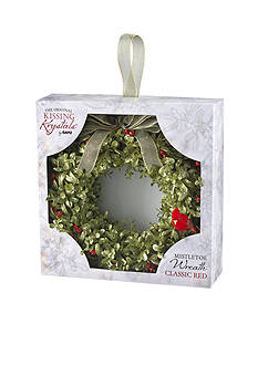 Ganz 12-in. Mistletoe Wreath with Cardinal