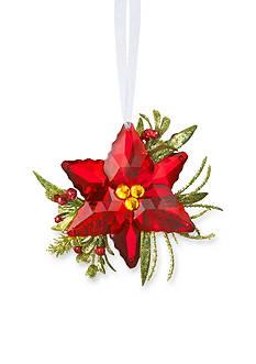 Ganz 3.5-in. Mistletoe Poinsettia Ornament