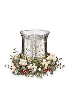 Ganz 8-in. Glass Floral Tea Light