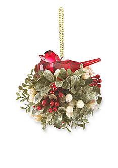 Ganz 5-in. Mistletoe Krystal Bird Kiss Ball Ornament