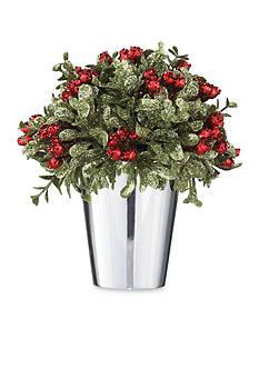 Ganz 6.5-in. H Mistletoe Kiss Topiary