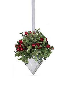 Ganz Kissing Krystal Marquis Ornament
