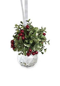 Ganz Kissing Krystal Facet Ornament