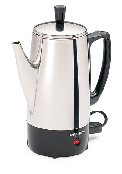 Presto 6-Cup Stainless Steel Coffee Maker 02822