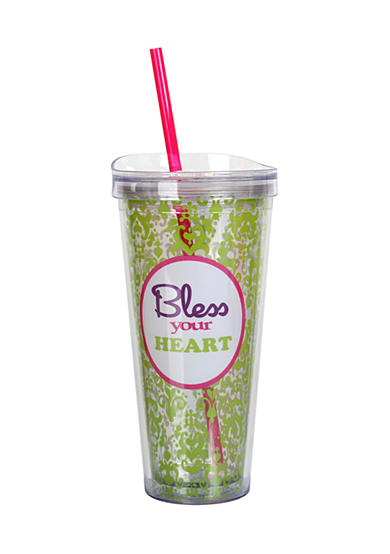 Clay Art Bless your Heart Hot/Cold 22 oz Tumbler