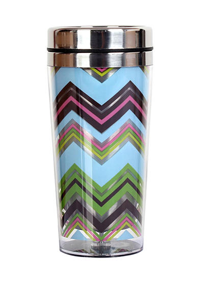 Clay Art Zig Zag Stainless Steel 14 oz Travel Tumbler