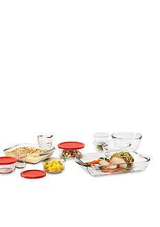 Anchor Hocking Glass 16-Piece Bake-Mix-Measure-Store Set
