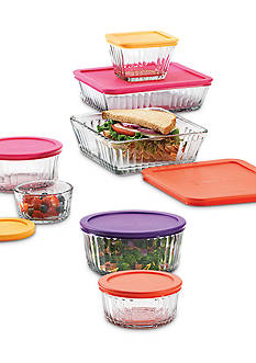 Anchor Hocking 14-Piece Embossed Food Storage Set