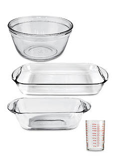 Anchor Hocking Glass 4-Piece Essentials Glass Bakeware Set