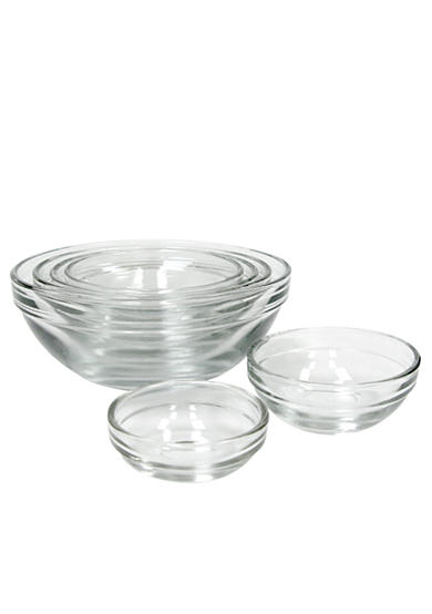 Anchor Hocking Glass 6-Piece Mixing Bowl Set - Online Only