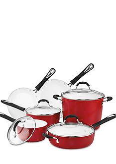 Cuisinart Elements Nonstick Ceramic 10-Piece Red Cookware Set