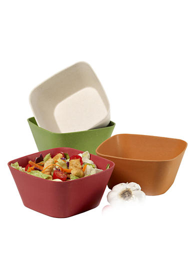 Farberware Set of 4 5-in. Square Bowls<br>