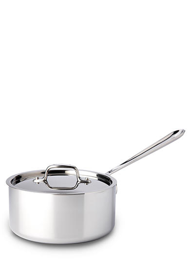 All-Clad Stainless Steel 3-qt. Saucepan with Lid
