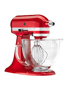 KitchenAid® Artisan Design Series 5-Quart Tilt-Head Stand Mixer with Glass Bowl KSM155G
