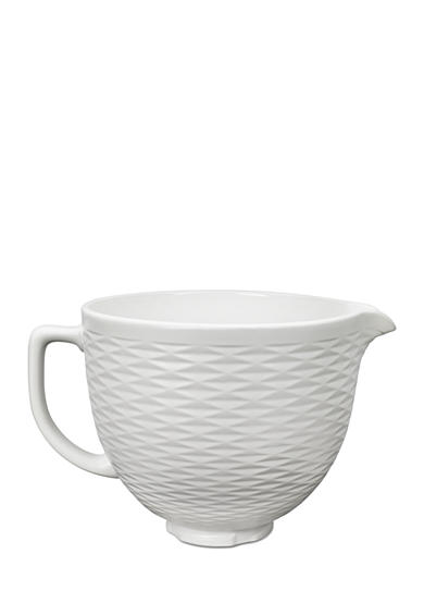 Kitchenaid 174 Embossed 5 Qt Ceramic Bowl White Ksmcb5tlw