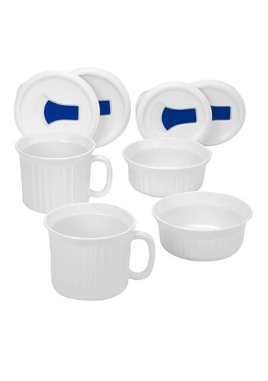 Corningware French White 8-Piece Pop Ins Mug set - Online Only