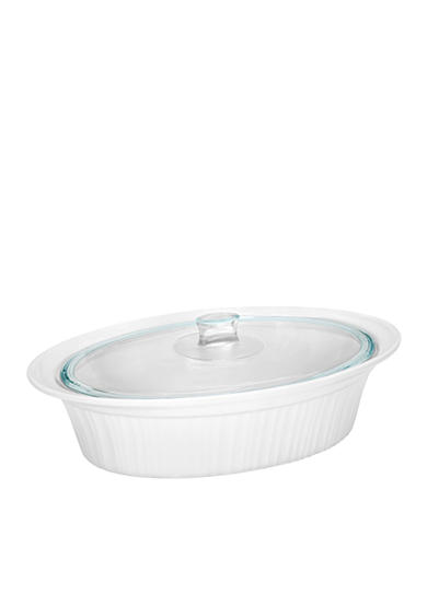 Corningware French White 4-qt. Covered Oval Roaster - Online Only