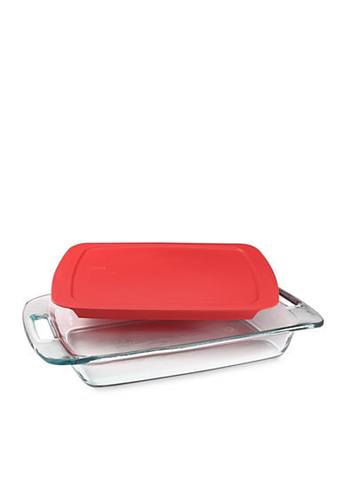 Pyrex Easy Grab 3-qt. Oblong with Lid