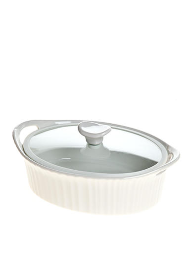Corningware French White III Oval 1.5-qt. Entree Baker with Quiet Close Lid - Online Only