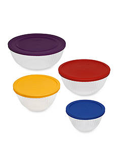 Pyrex 8-Piece Sculpted Mixing Bowl Set
