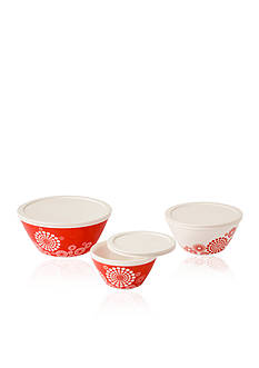 Pyrex Vintage Charm 6-Piece Tickled Pink Bowl Set