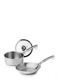 Revere 3-Piece Stainless Steel Fry Pan and Sauce Pot with Lid