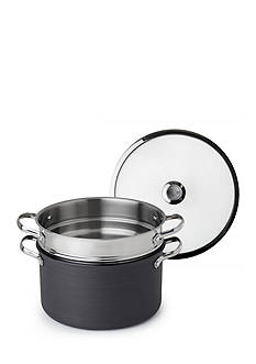 Revere 6.5-qt. Hard Anodized Aluminum Stock Pot with Stainless Steel Pasta Insert and Lid