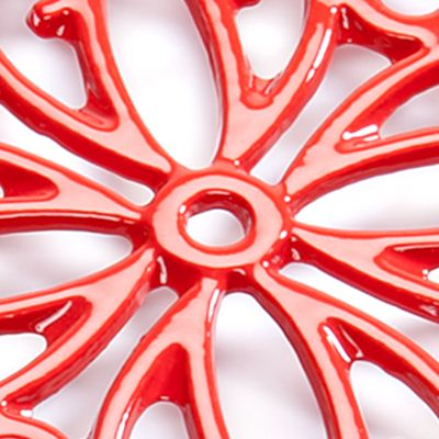 Cooks Tools™ Bed & Bath Sale: Red Cooks Tools™ Round Iron Trivet