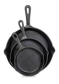 Cooks Tools™ 3-Piece Cast Iron Fry Pan Set