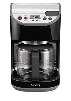 Krups Precision 12-Cup Coffee Maker with Glass Carafe - Black KM611850