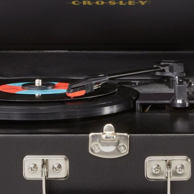 More For the Home: Cd Players & Turntables: Black Crosley Traveler Turntable - Online Only