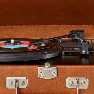 More For the Home: Cd Players & Turntables: Tan Crosley Traveler Turntable - Online Only