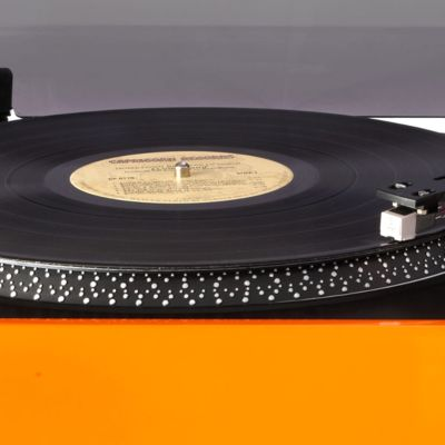 For the Home: Cd Players & Turntables Sale: Orange Crosley Advance Stereo USB Turntable CR6009A - Online Only