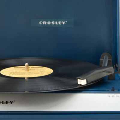 Tech Gifts: Blue Crosley Spinnerette Portable USB Turntable CR6016A - Online Only