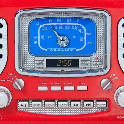 Tech Gifts: Red Crosley Corsair Clock Radio CR612 - Online Only