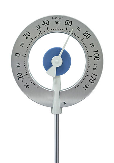 LaCrosse Technology Large Round Garden Thermometer