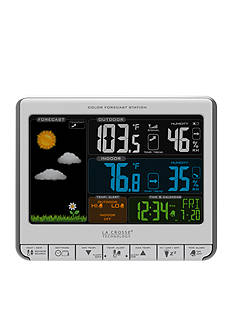 LaCrosse Technology Color LCD Wireless Forecast Station with Alerts 3081412S - Online Only