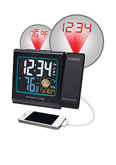 LaCrosse Technology Projection 5-in. Color LCD Alarm Clock with Temperature