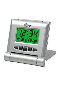 LaCrosse Technology Solar Powered Digital Travel Alarm Clock