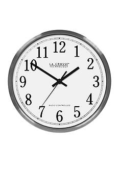 LaCrosse Technology 12-in. Atomic Analog Wall Clock Aluminum