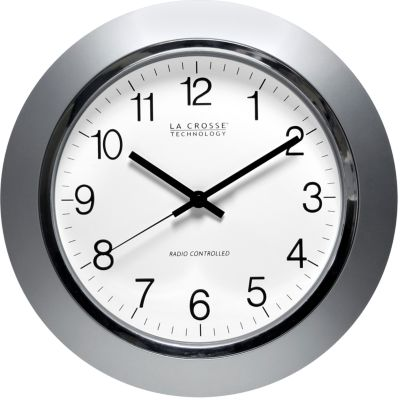 Electronic Gadgets: Silver LaCrosse Technology 14-in. Atomic Analog Wall Clock - Online Only