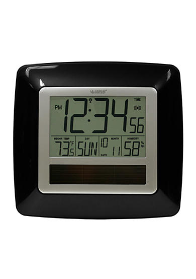 LaCrosse Technology Solar Atomic Digital Clock with Temperature & Humidity - Online Only <br>