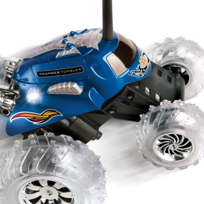 Bed & Bath: For Kids Sale: Blue The Black Series Remote Controlled Thunder Tumbler 360 Rally Car