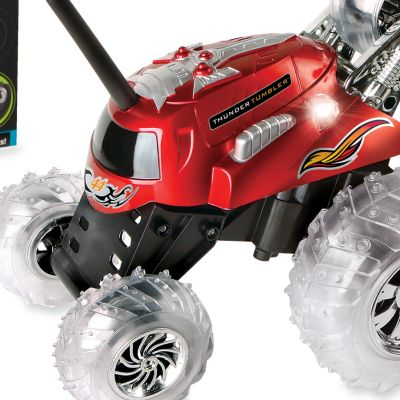 Bed & Bath: For Kids Sale: Red The Black Series Remote Controlled Thunder Tumbler 360 Rally Car