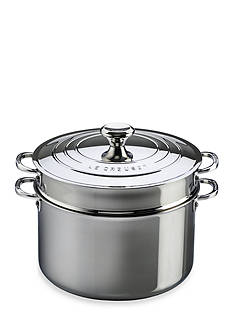 Le Creuset 9-qt. Stainless Steel Stockpot with Colander Insert