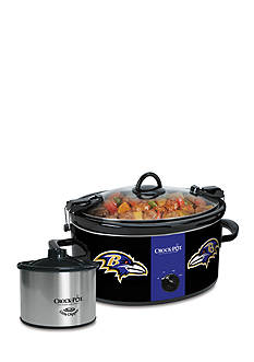 Baltimore Ravens CrockPot Slow Cooker with Lil Dipper