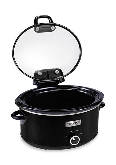 CrockPot Crockpot SCCPVM600H-BI Metallic Cooker with Hinged Lid, 6 quart, Black -SCCPVM600HBI