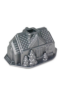 Nordic Ware Platinum Gingerbread House Bundt Pan
